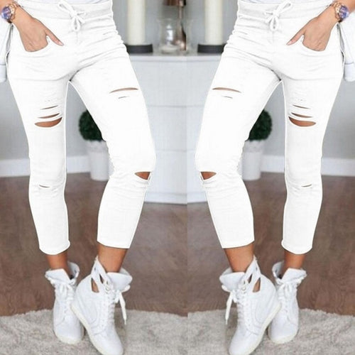 High Waist Leggings Trousers Fashion Pants - Nik Boutique