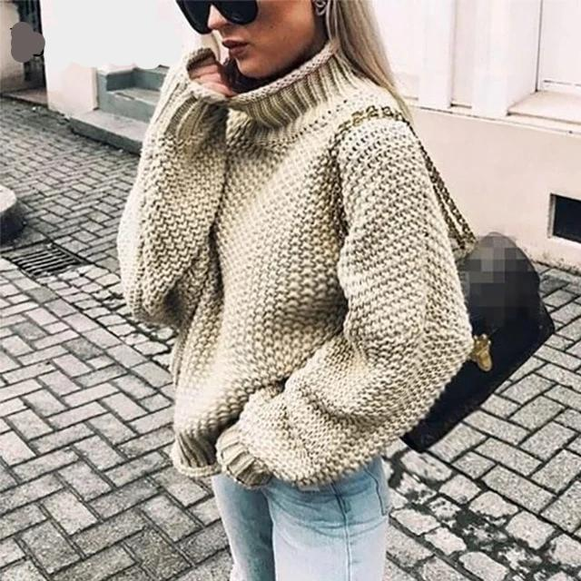 White Warm Casual Sweater Women - Nik Boutique