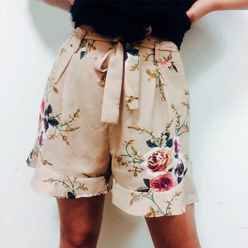 floral print ruffle shorts Women - Nik Boutique