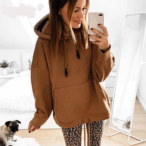 Woman Casual Plus Size Hoodie Sweatshirt - Nik Boutique