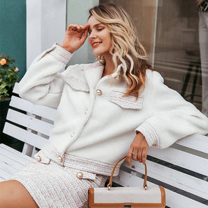 Sweet ladies short white jackets - Nik Boutique