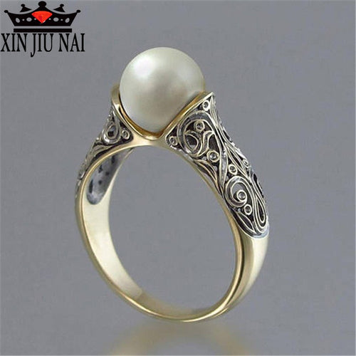 NEW Korean Fashion High Quality Pearl Ring for Men and Women