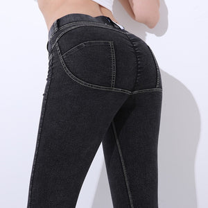 Low Waist Leggings Women Sexy Hip Push Up Fitness Leggings