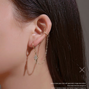 Gold Silver Start Drop Earrings for Women