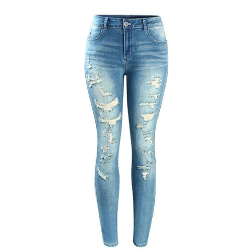 Fashion Mid High Waist Jeans For Women - Nik Boutique