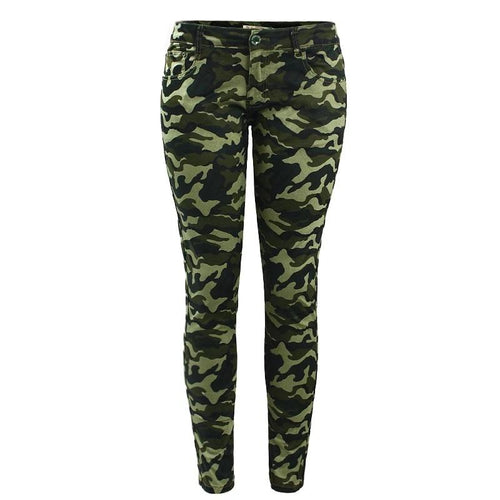 Army Green Skinny Jeans For Women - Nik Boutique