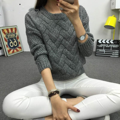 Women Sweater New Fashion O-neck