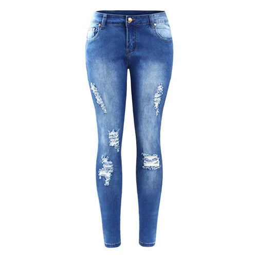 Skinny Distressed Jeans For Women - Nik Boutique