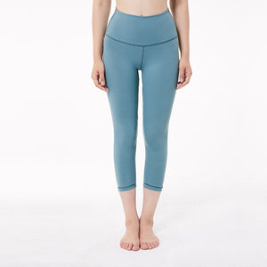 Elastic Waist Solid Skinny Stretch Capris Leggings - Nik Boutique