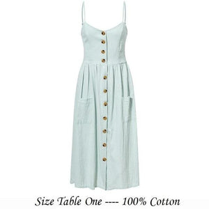 Elegant button women dress - Nik Boutique