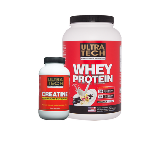 Whey Protein (Isolate + Concentrate) + Creatina 300grs