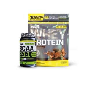 Whey Protein 1kg + BCAA 2:1:1 90caps.