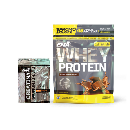 Whey Protein 1kg + Creatina 300grs