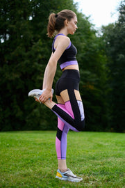 Pink and Purple Leggings 7/8