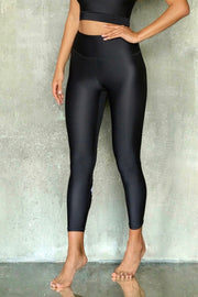 Black with Peony Leggings 7/8