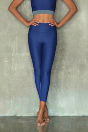 Navy and Purple Leggings 7/8