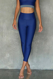 Navy and Black Leggings 7/8