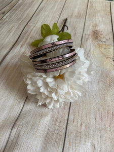 "SALE - ""Floral and Glass"" Bracelet"