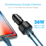 36W PD Car Charger for Samsung and Google