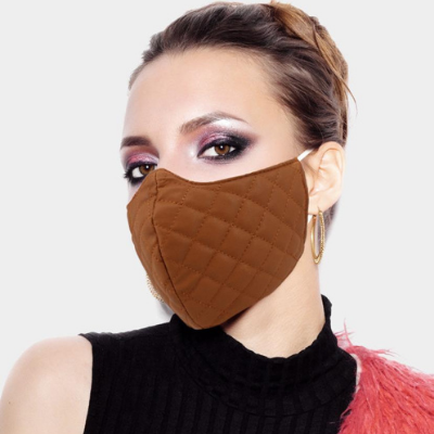 8 Leather Quilted Pattern Fashion Mask