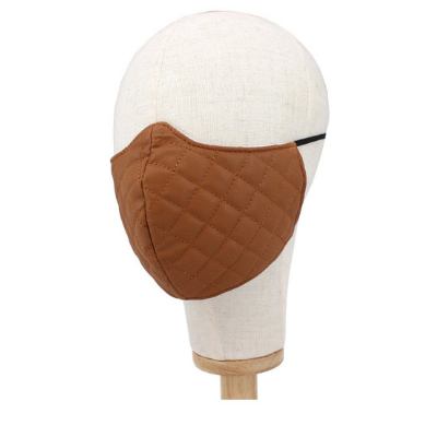 Leather Quilted Pattern Fashion Mask