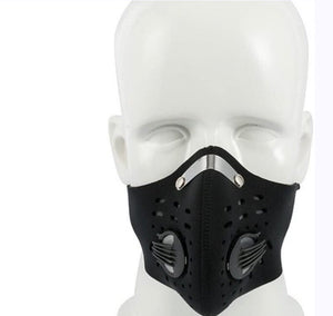 Cycling Half Face Mask Bike Ski Dust Mask Neoprene Filter Anti Pollution Mask