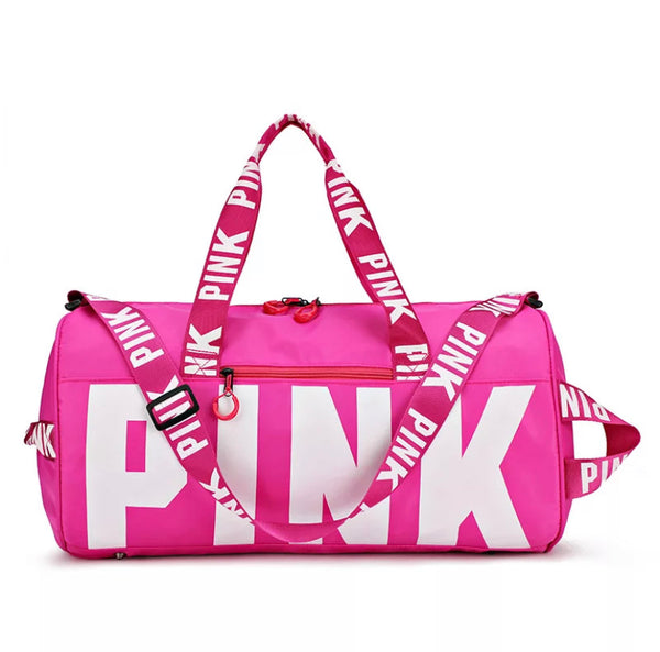PINK Logo Sports Duffle Gym Bag
