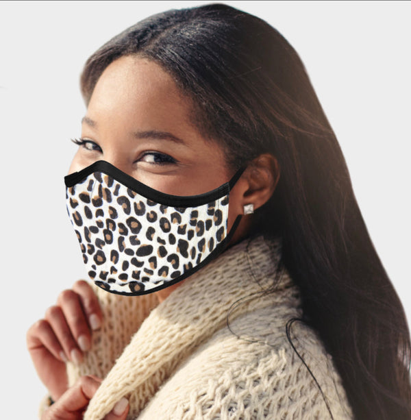 WHOLESALE Leopard Print Faux Fur Fashion Mask