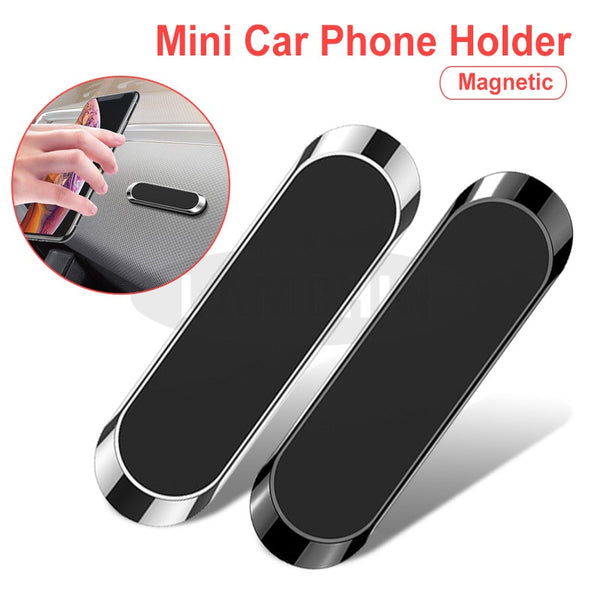 Magnetic Car Phone Holder Mini Metal Plate Magnet Cell Phone Stand For Mobile Phone In Car Strong Magnet Adsorption Car Holder