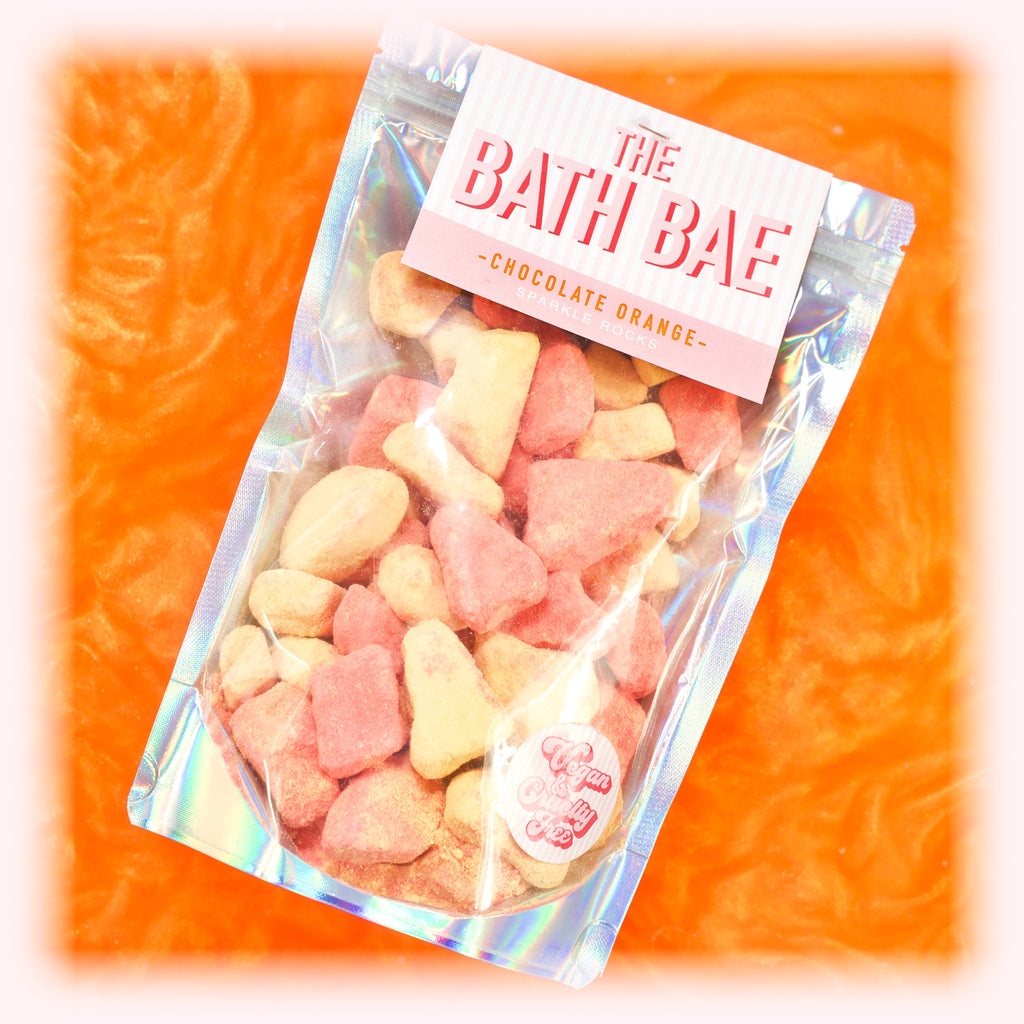 The Bath Bae Chocolate Orange Bath Bomb Sparkle Rocks