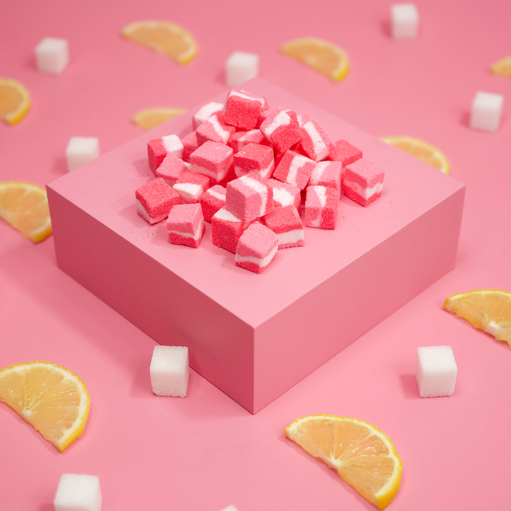 The Bath Bae Pink Lemonade Bath Bomb Cubes