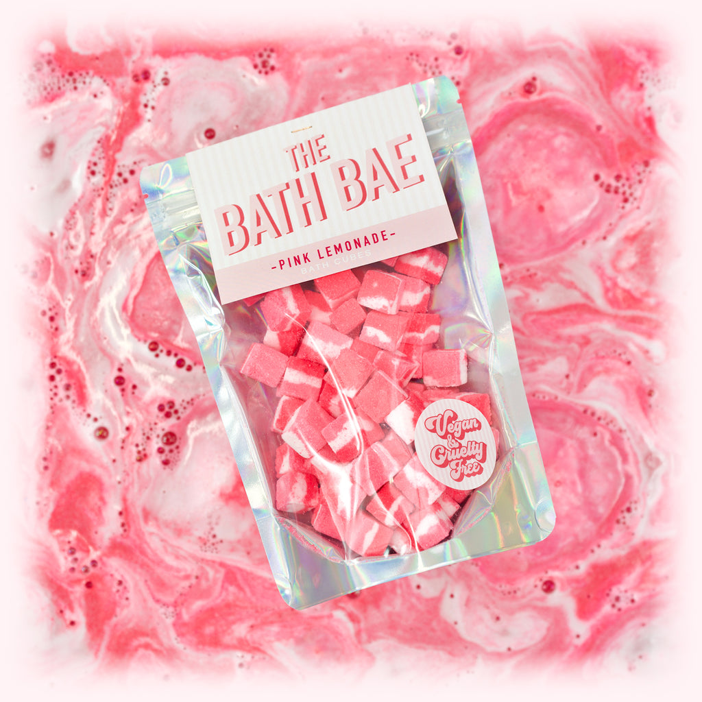 The Bath Bae Pink Lemonade Bath Bomb Cubes Pink Bath Art