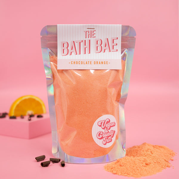 The Bath Bae Chocolate Orange Bath Bomb Sparkle Dust