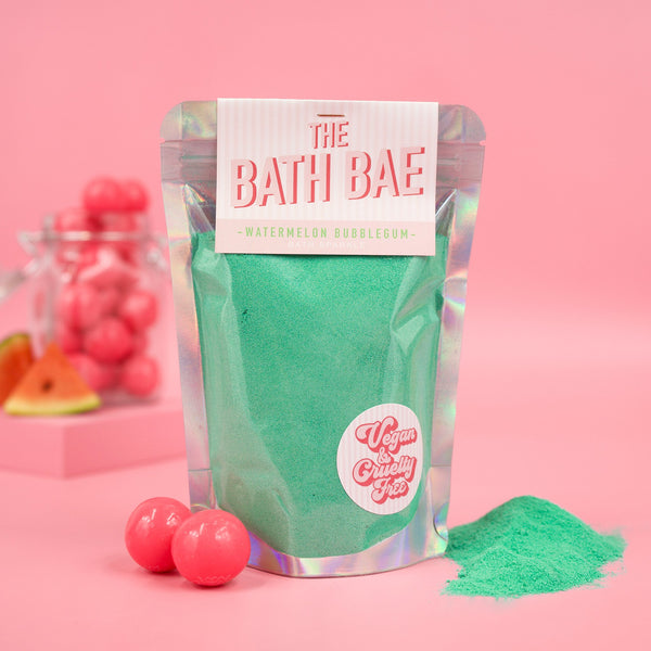 The Bath Bae Watermelon Bubblegum Bath Bomb Sparkle Dust