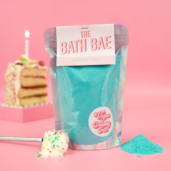 The Bath Bae Birthday Cake Bath Bomb Sparkle Dust