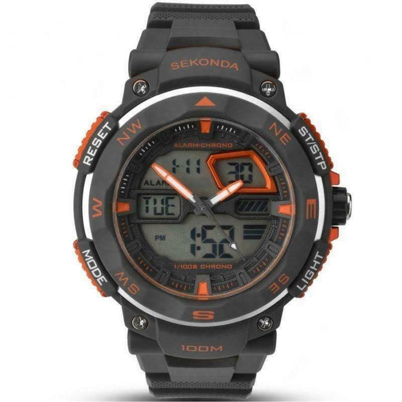 Sekonda Digital Dual Time Watch Black 1163 - Hollins and Hollinshead