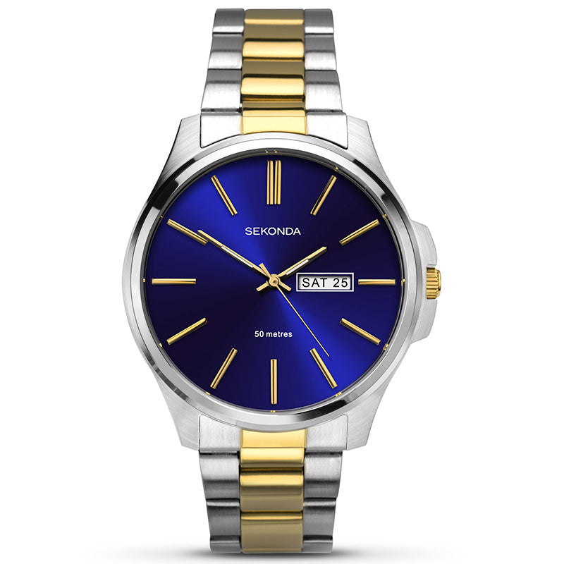 Sekonda Two Tone Day Date Mens Watch 1440 - Hollins and Hollinshead