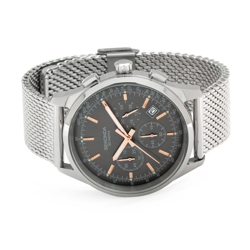 Sekonda Mens Stainless Steel Chronograph Watch 1490 - Hollins and Hollinshead