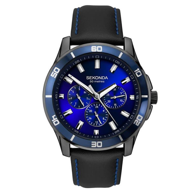 Sekonda Midnight Blue Day Date Mens Watch 1634 As Seen on TV - Hollins and Hollinshead