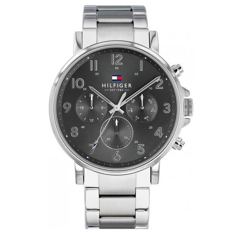 Tommy Hilfiger Daniel Steel Day Date Mens Watch 1710382 - Hollins and Hollinshead