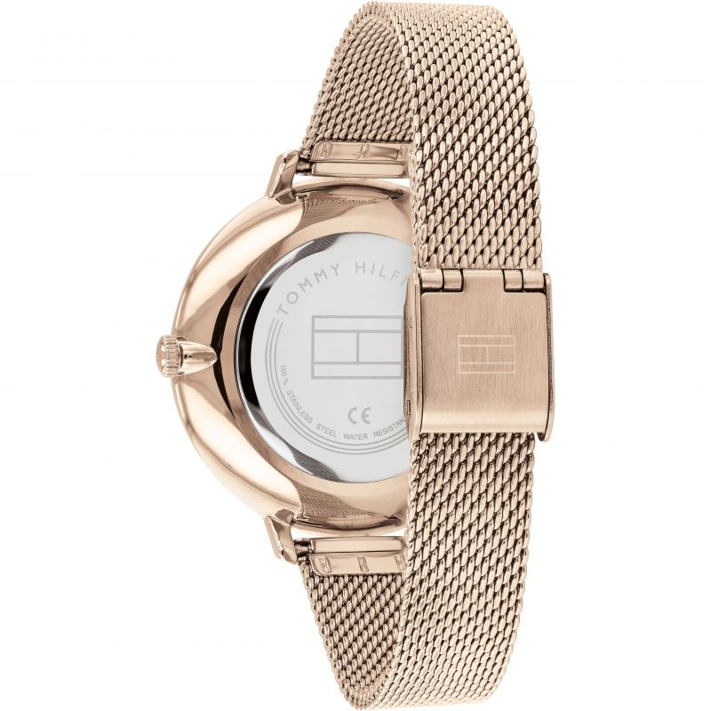 Tommy Hilfiger Carnation Rose Mesh Bracelet Ladies Watch 1782115 - Hollins and Hollinshead