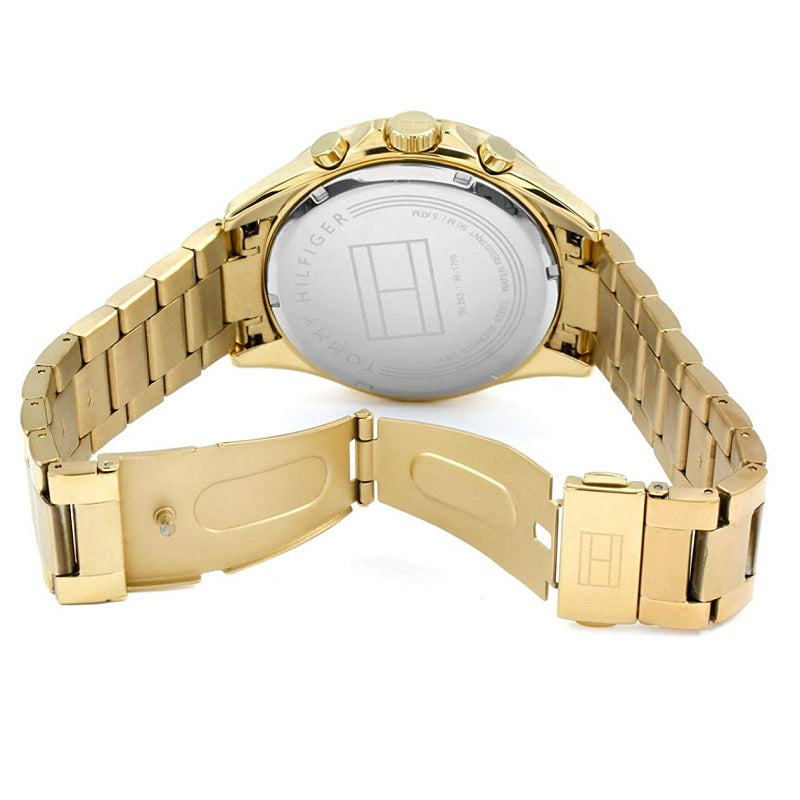 Tommy Hilfiger Day Date Gold Plated Mens Watch 1791121 - Hollins and Hollinshead