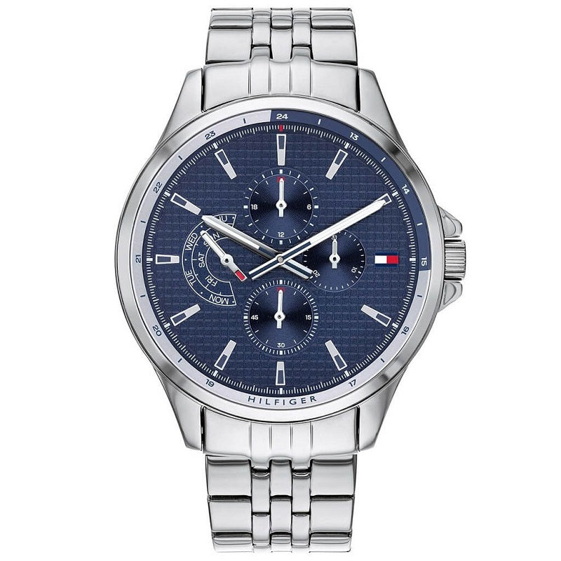 Tommy Hilfiger Steel Day Date Mens Watch 1791612 - Hollins and Hollinshead