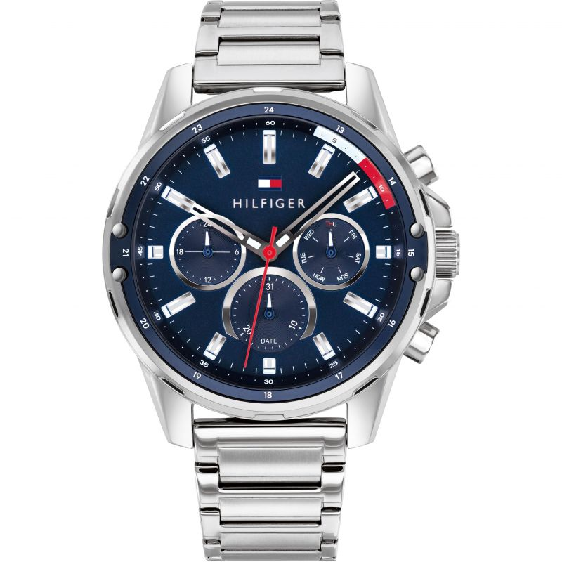 Tommy Hilfiger Day Date Bracelet Mens Watch 1791788 - Hollins and Hollinshead