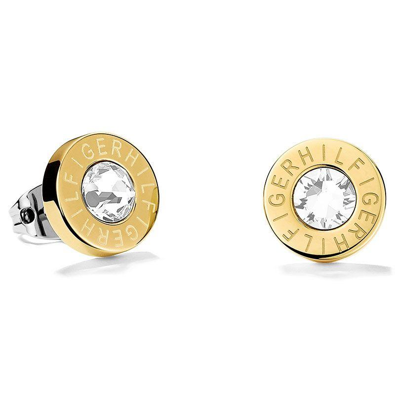 Tommy Hilfiger Fine Core Gold Plated Ladies Stud Earrings 2700753 - Hollins and Hollinshead