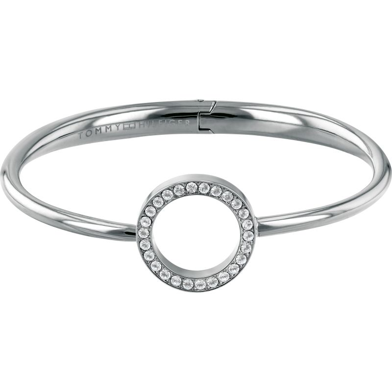 Tommy Hilfiger Ladies Open Circle Hinged Bangle 2780064