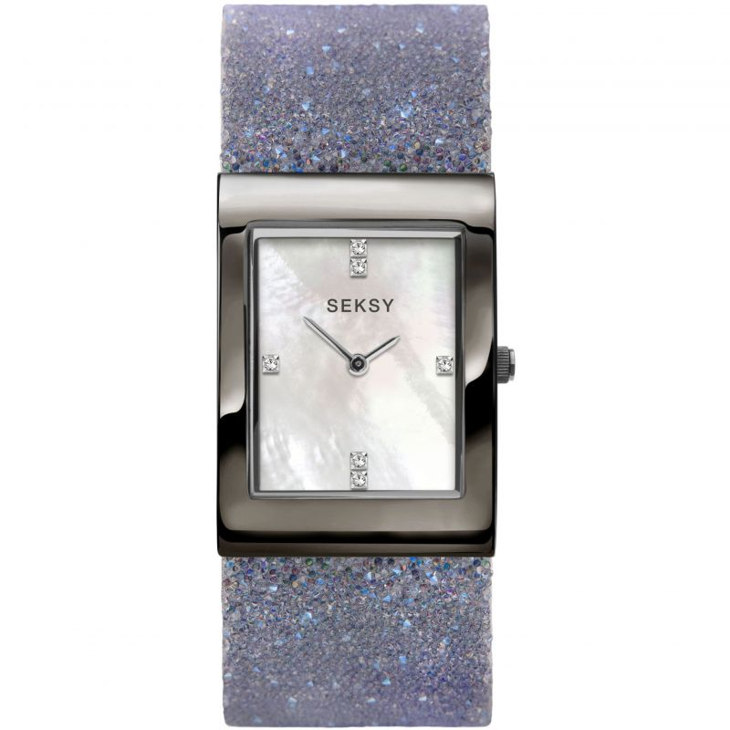 Seksy Rocks Grey Swarovski Crystal Ladies Watch 2859 - Hollins and Hollinshead