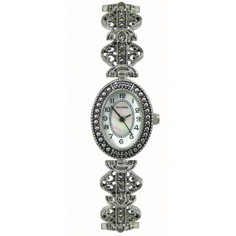 Sekonda Marcasite Peal Dial Bracelet Ladies Watch 4978 - Hollins and Hollinshead