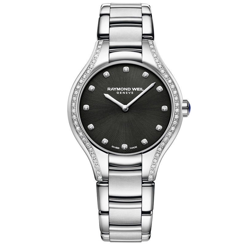Raymond Weil Noemia Steel 52 Diamond Ladies Watch 5132-STS-20081 Video