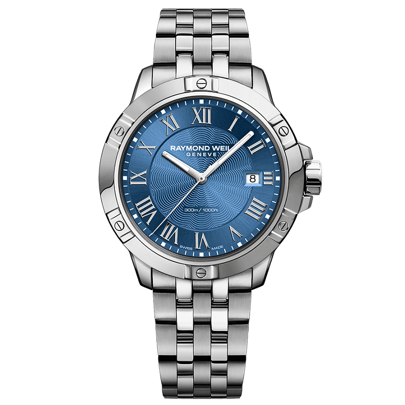 Raymond Weil Tango Blue Dial Mens Watch 8160-ST-00508 - Hollins and Hollinshead
